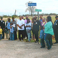SUPERVISORS NAME ROAD FOR COUSIN<br /> (Courtesy Photo)<br /> A Dedication Ceremony was held at the Macedonia M. B. Church, March 19, 2016, in memory of the late Warren G. Cousin, Sr. to name Chickasaw County Road 436 in his memory. A hostof elected officials were in attendance for this event and a resolution was presented to the Cousin Family. The ceremony was sponsored by the Chickasaw County Board of Supervisors, Anderson McFarland, president.