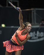 Madison Keys (USA) on Day Three of the WTA Generali Ladies Linz Open at TipsArena, Linz<br /> Picture by EXPA Pictures/Focus Images Ltd 07814482222<br /> 12/10/2016<br /> *** UK & IRELAND ONLY ***<br /> <br /> EXPA-REI-161012-5012.jpg