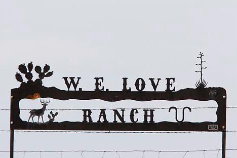 W. E. Love Ranch, West Texas.