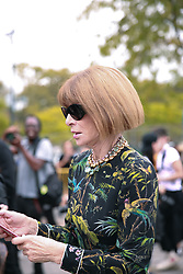September 12, 2018 - New York, New York, United States - Anna Wintour attends the Coach 1941 Runway Show during New York Fashion Week at Pier 94 on September 11, 2018 in New York City. (Credit Image: © Oleg Chebotarev/NurPhoto/ZUMA Press)