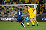 CANBERRA, AUSTRALIA - OCTOBER 10: Australian defender Harry Souttar (23) controls the ball during the FIFA World Cup Qualifier soccer match between Australia and Nepal on October 10, 2019 at GIO Stadium in Canberra, Australia. (Photo by Speed Media/Icon Sportswire)