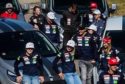 Stefan Hadalin, Ana Drev, Meta Hrovat at media day of Ski Association of Slovenia before new winter season 2018/19, on October 4, 2018 in Ski resort Pohorje, Maribor, Slovenia. Photo by Grega Valancic / Sportida