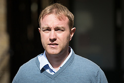 © Licensed to London News Pictures. 29/07/2015. London, UK. Former trader, TOM HAYES arrives at Southwark Crown Court in London. Hayes appears charged with eight counts of conspiracy to defraud in relation to alleged manipulation and rigging of the global Libor interest rate. The jury has retired to consider its verdict. Photo credit : Vickie Flores/LNP