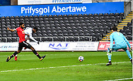 Botti Biabi of Swansea City scores his sides first goal - Mandatory by-line: Craig Thomas/Replay images - 18/03/2018 - FOOTBALL - Liberty Stadium - Swansea, England - Swansea City U23 v Manchester United U23 - Premier League 2 - Divison 1