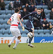 Dundee's Alex Harris and Hamilton&rsquo;s Stephen Hendrie -  Dundee v Hamilton Academical, SPFL Premiership at Dens Park <br /> <br /> <br />  - &copy; David Young - www.davidyoungphoto.co.uk - email: davidyoungphoto@gmail.com