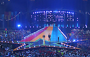 03.08.2014. Glasgow, Scotland. Glasgow Commonwealth Games. Closing Ceremony from Hampden Park. Lord Smith and Prince Imran on stage