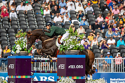 VENISS Pedro (BRA), Quabri de I'Isle<br /> Tryon - FEI World Equestrian Games™ 2018<br /> FEI World Individual Jumping Championship<br /> Third cometition - Round A<br /> 3. Qualifikation Einzelentscheidung 1. Runde<br /> 23. September 2018<br /> © www.sportfotos-lafrentz.de/Stefan Lafrentz