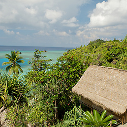 Misool eco resort: panoramic view.