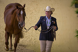 Jessica Sternberg, (GBR), Shiners Chic - Horse Inspection Reining  - Alltech FEI World Equestrian Games™ 2014 - Normandy, France.<br /> © Hippo Foto Team - Dirk Caremans<br /> 25/06/14