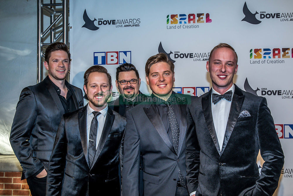October 11, 2016 - Nashville, Tennessee, USA - Veritas at the 47th Annual GMA Dove Awards  in Nashville, TN at Allen Arena on the campus of Lipscomb University.  The GMA Dove Awards is an awards show produced by the Gospel Music Association. (Credit Image: © Jason Walle via ZUMA Wire)