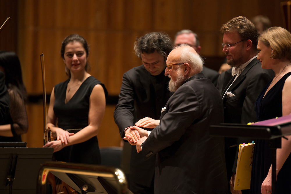 Polish composer Krzysztof Penderecki on stage