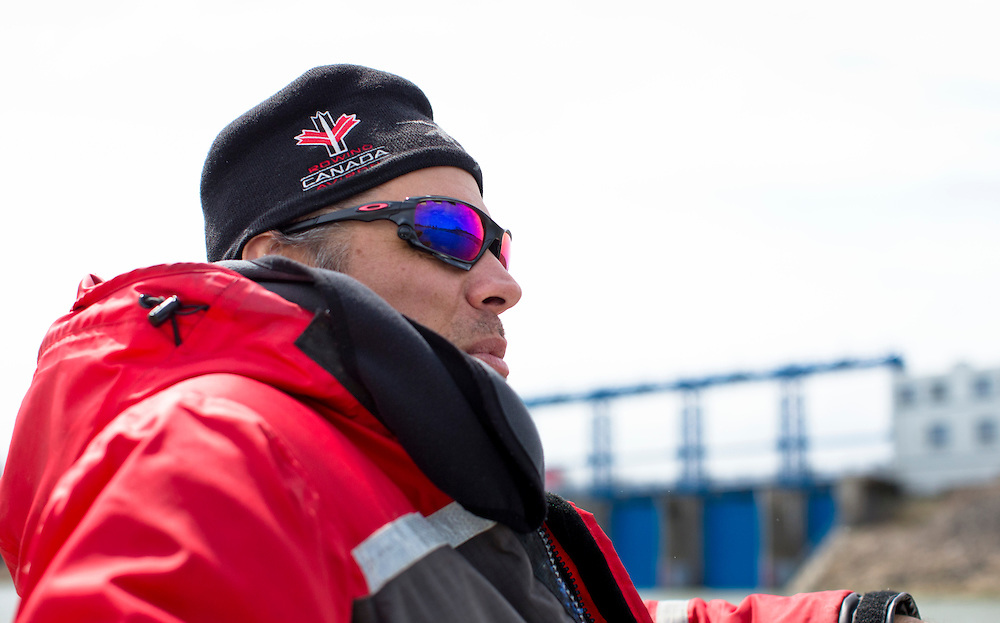 Phil Marshall Assistant National rowing team coach at Lake Fanshawe in London, Ontario Canada on April 25th, 2016.
