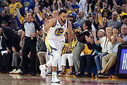 May 26, 2018; Oakland, CA, USA; Golden State Warriors guard Stephen Curry (30) shoots the ball against the Houston Rockets during the second quarter in game six of the Western conference finals of the 2018 NBA Playoffs at Oracle Arena.