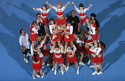 Smart Ladies, Slovenia during All Female senior at second day of European Cheerleading Championship 2008, on July 6, 2008, in Arena Tivoli, Ljubljana, Slovenia. (Photo by Vid Ponikvar / Sportal Images).