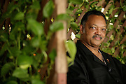 Portrait of Rev Jesse Jackson during a visit to Accra, Ghana, on the occasion of the country's 50th anniversary of independence from the UK.