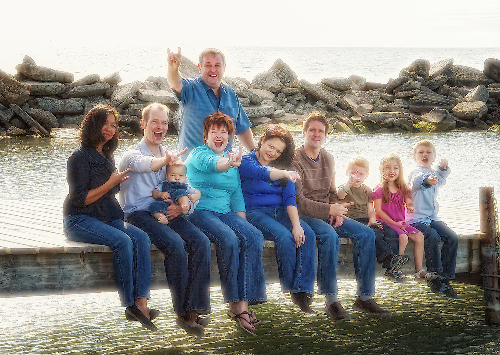 Forty-year family reunion portrait.