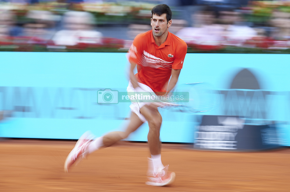 May 12, 2019 - Madrid, Spain - Serbian Novak Djokovic during ATP Singles Finals at Mutua Madrid Open in Madrid, Spain. May 12, 2019. (Credit Image: © Borjab.Hojas/NurPhoto via ZUMA Press)