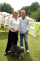 JO HANSFORD and her son DANNY HANSFORD with her dog Stella at Macmillan Dog Day in aid of Macmillan Cancer Support, held at Royal Hospital Chelsea, London on 3rd July 2007.<br /><br />NON EXCLUSIVE - WORLD RIGHTS