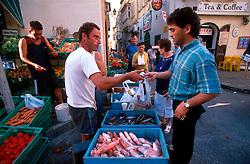 MALTA GOZO VICTORIA JUL00 - The fish market on Republic Square in Victoria.. . jre/Photo by Jiri Rezac. . © Jiri Rezac 2000. . Tel:   +44 (0) 7050 110 417. Email: info@jirirezac.com. Web:   www.jirirezac.com