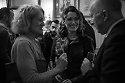 SALLY EMERSON; ANNA STOTHARD; PHILIP MANSEL, The launch of Fire Child by Sally Emerson. Hosted by Sally Emerson and Naim Attalah CBE. Dean St. London. 22 March 2017