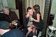 BEN REARDON; NATHALIE EVERARD, GQ Style party, The Bassoon Bar , The Corinthia Hotel, Whitehall Place London. 15 March 2011.  -DO NOT ARCHIVE-© Copyright Photograph by Dafydd Jones. 248 Clapham Rd. London SW9 0PZ. Tel 0207 820 0771. www.dafjones.com.