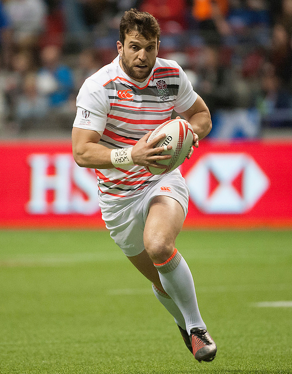 Charlie Hayter of England during the pool stages of the Canada Sevens,  Round Six of the World Rugby HSBC Sevens Series in Vancouver, British Columbia, Saturday March 11, 2017. <br /> <br /> Jack Megaw.<br /> <br /> www.jackmegaw.com<br /> <br /> jack@jackmegaw.com<br /> @jackmegawphoto<br /> [US] +1 610.764.3094<br /> [UK] +44 07481 764811
