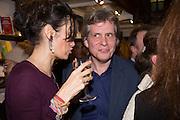 ANNA MAXWELL; COSMO LANDESMAN, Allie Esiri's The Love Book launch party , Daunt Books <br /> 83 Marylebone High Street, London. 5 February 2014
