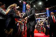 Presidential Hopeful Mitt Romney walks toward the stage to hold his acceptance speech at the GOP National Convention at the Tampa Bay Forum.