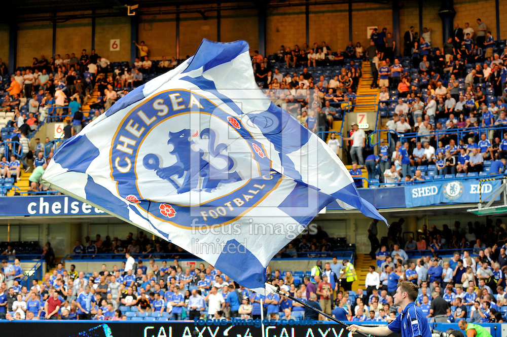 Picture by Alan Stanford/Focus Images Ltd +44 7915 056117<br /> 21/08/2013<br /> The Chelsea  flag flying high during the Barclays Premier League match at Stamford Bridge, London.