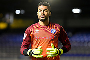 Rochdale goalkeeper (on loan from Brighton and Hove Albion) Robert Sanchez (25) during the EFL Sky Bet League 1 match between Coventry City and Rochdale at the Trillion Trophy Stadium, Birmingham, England on 16 November 2019.