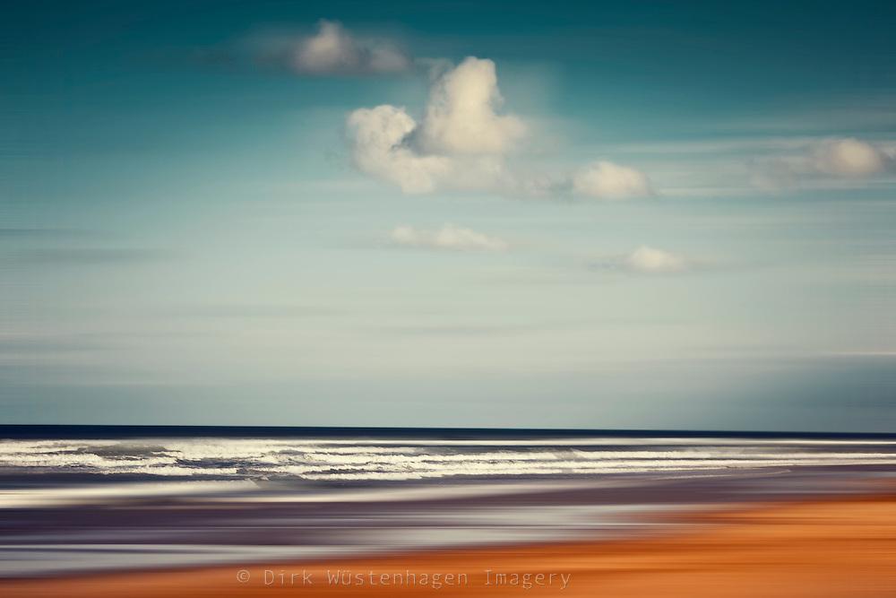 Abstrakte Strandlandschaft, Contis-Plage, Frankreich