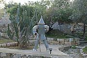Israel, Carmel, Ein Hod Artist's village, The Tin Woodsman by Nehama Levendal