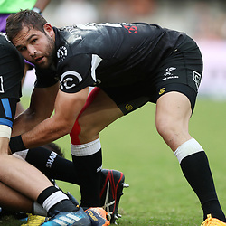 Cobus Reinach of the Cell C Sharks during the Super Rugby match between the Cell C Sharks and the Western Force at Growthpoint Kings Park on May 06, 2017 in Durban, South Africa. (Photo by Steve Haag)