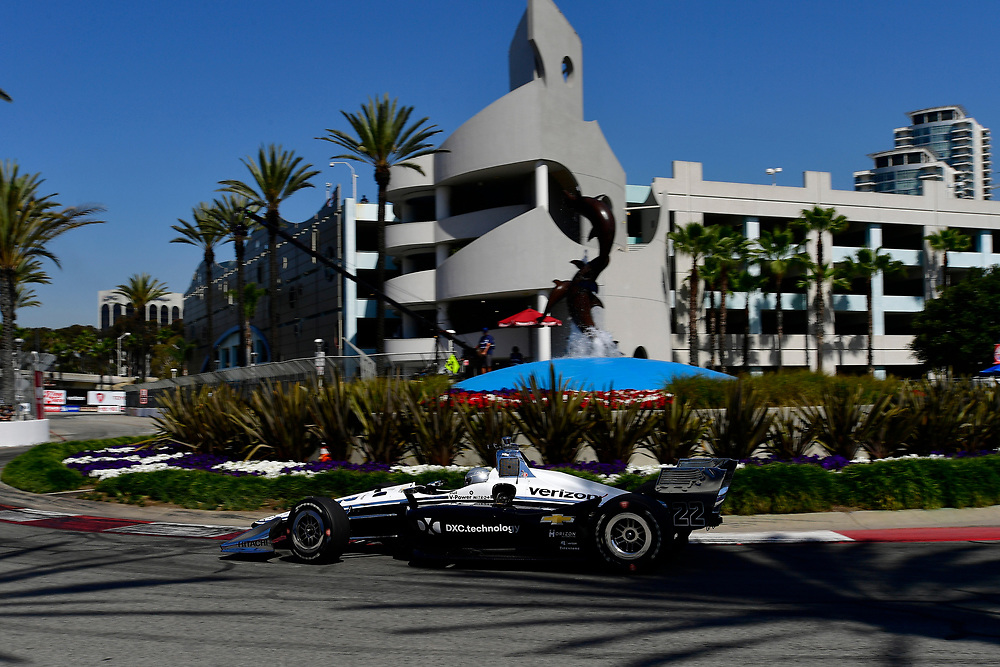 Simon Pagenaud, Team Penske Chevrolet<br /> Saturday 14 April 2018<br /> Toyota Grand Prix of Long Beach<br /> Verizon IndyCar Series<br /> Streets of Long Beach, California USA<br /> World Copyright: Scott R LePage<br /> LAT Images