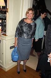MRS KAY SAATCHI former wife of Charles Saatchi, at a Conservative Party Reception for the Art held at 24 Thurloe Square, Lndon SW7 on 5th April 2005.<br /><br />NON EXCLUSIVE - WORLD RIGHTS