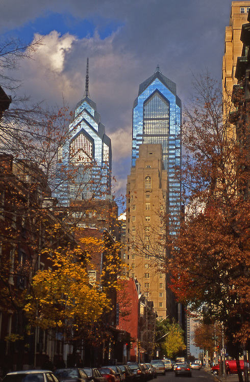Philadelphia, Fall, Market Street and Skyscrapers