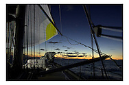 The Clipper Around the World Race 2000..The Glasgow Clipper during leg1- Tropical sunsets approaching Madiera.. .Marc Turner / PFM.www.pfmpictures.co.uk