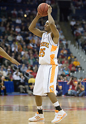 Tennessee Volunteers guard Josh Tabb (25) in action against Long Beach State.  The #5 seed Tennessee Volunteers defeated the #12 seed Long Beach State 49ers 121-86  in the first round of the Men's NCAA Tournament in Columbus, OH on March 16, 2007.
