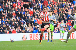 March 16, 2019 - Sunderland, Tyne and Wear, United Kingdom - Sunderland's Will Grigg scoring his side's second goal during the Sky Bet League 1 match between Sunderland and Walsall at the Stadium Of Light, Sunderland on Saturday 16th March 2019. (Credit: Steven Hadlow | MI News) (Credit Image: © Mi News/NurPhoto via ZUMA Press)