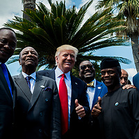 Taormina 27-05-2017 G7, Final Photofamily of the Leaders; Donald Trump with the delegation of African Nations