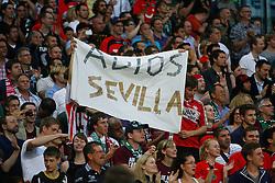 18.08.2011, AWD-Arena, Hannover, GER, EL,  Play Off, Hannover 96 (GER) vs FC Sevilla (ESP), im Bild Fanimpressionen .// during the match from GER, EL, Play Off,  Hannover 96 (GER) vs FC Sevilla (ESP) on 2011/08/18, AWD-Arena, Hannover, Germany. .EXPA Pictures © 2011, PhotoCredit: EXPA/ nph/  Schrader       ****** out of GER / CRO  / BEL ******