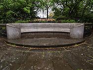 Charles B. Stover bench near Shakespeare Garden in Central Park