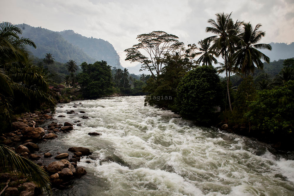 Asahan river, Asahan 1 Dam,  Asahan 1 a 180 MW run-of-river hydroelectric power plant located in Indonesia's North Sumatera Province at the upstream reach of the Asahan River   at Porsea District,  North Sumatera Province, Indonesia  on July 13, 2015