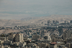 A view over East Jerusalem with the Dead Sea in the distance. From a series of photos commissioned by  British NGO, Medical Aid for Palestinians (MAP).