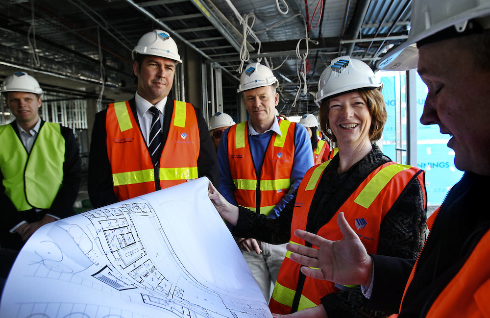 Deputy Prime Minister Julia Gillard with Linsay Tanner and Steven Kernahan inspecting the new facilities at Visy Park Pic By Craig Sillitoe melbourne photographers, commercial photographers, industrial photographers, corporate photographer, architectural photographers, This photograph can be used for non commercial uses with attribution. Credit: Craig Sillitoe Photography / http://www.csillitoe.com<br />