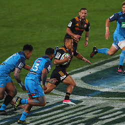 Tim Nanai-Williams of the Chiefs makes a break during the Super Rugby Match between the Blues and the Chiefs at Eden Park in Auckland, New Zealand on Friday 26  May 2017. Photo: Simon Watts / www.lintottphoto.co.nz