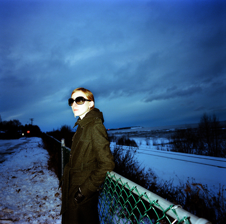 Poet Ash Adams in Anchorage, Alaska. 2009