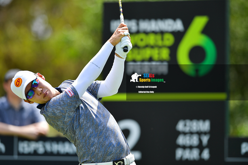 PERTH, AUSTRALIA - FEBRUARY 16: Jazz Janewattananond (THA) on the 2nd tee during the 3rd round of the ISPS Handa World Super 6, Lake Karrinyup Country Club, Perth, Western Australia, on February 16, 2019. <br /> .<br /> .<br /> .<br /> (Photo by: Naratip Golf Srisupab/SEALs Sports Images)<br /> .<br /> Any image use must include a mandatory credit line adjacent to the content which should read: Naratip Golf Srisupab/SEALs Sports Images