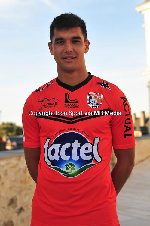 Adrien Monfray - 28.09.2015 - Photo officielle - Laval - Ligue 2<br /> Photo : Philippe Le Brech / Icon Sport