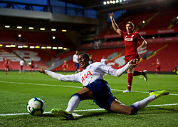 LIVERPOOL, ENGLAND - Friday, August 17, 2018: Tottenham Hotspur's Jaden Brown during the Under-23 FA Premier League 2 Division 1 match between Liverpool FC and Tottenham Hotspur FC at Anfield. (Pic by David Rawcliffe/Propaganda)